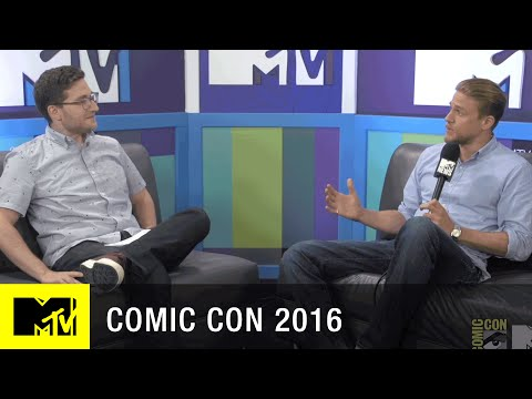 Charlie Hunnam Intimidates as King Arthur  Comic Con   MTV