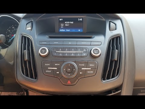 How To Remove Radio / CD Player From Ford Focus 2016 For Repair.