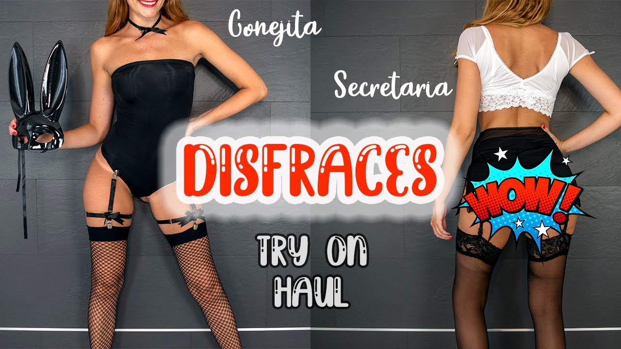 TRY ON HAUL Disfraces de secretaria y conejita