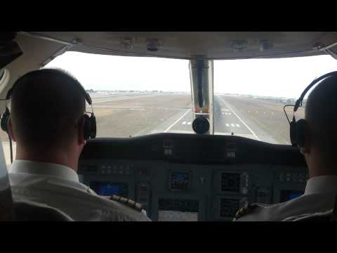 Landing in Ibiza on a private jet