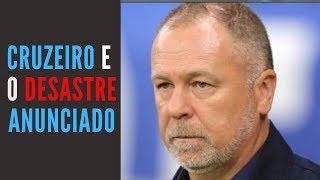 Cruzeiro não faz gol há 8 jogos, venceu um em 19 e Mano Menezes caiu fora: desastre anunciado