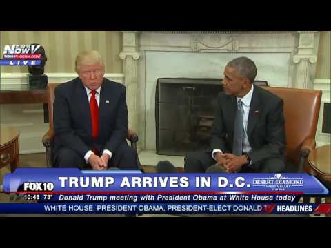 MUST WATCH: Donald Trump Meets With President Obama at White House - FNN