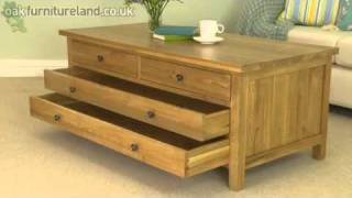 Chaucer Solid Oak Large Coffee Table From Oak Furniture Land