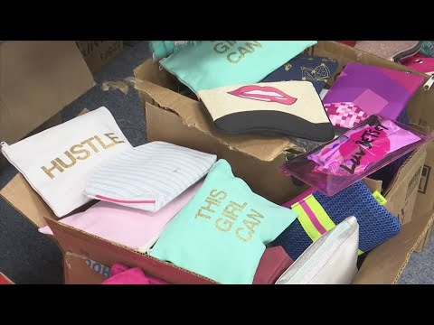 Ipsy Bags donated to Merritt Brown Middle School female students