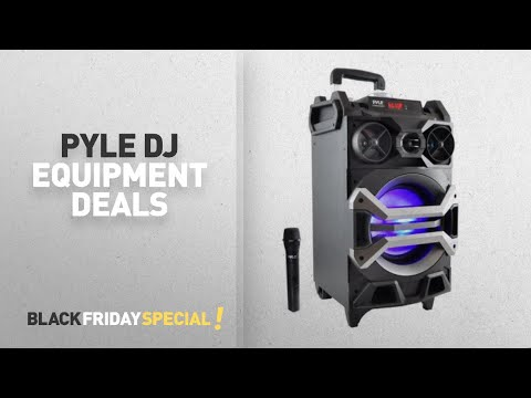 Walmart Top Black Friday Pyle Dj Equipment Deals: Portable BT Karaoke Speaker System, PA Loudspeaker