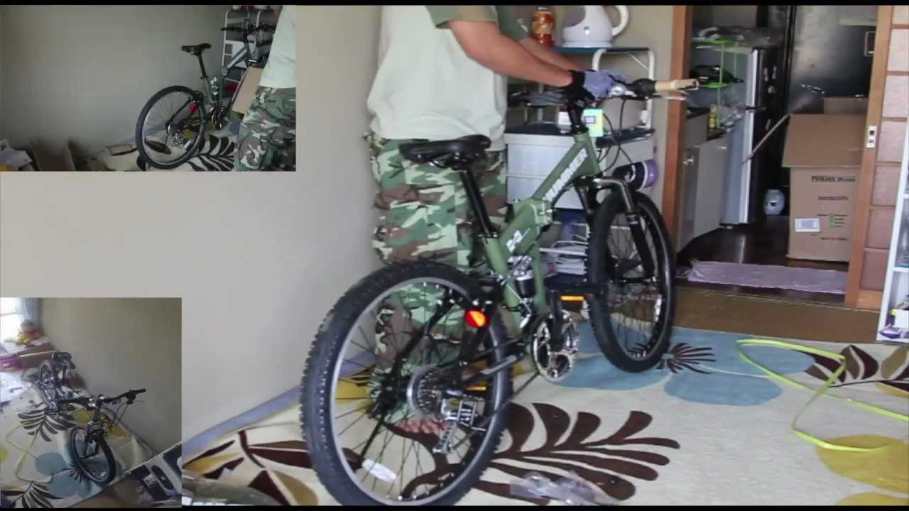 Unboxing Folding Bicycle Hummer Youtube