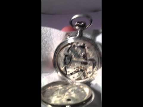 Self winding pocket watch