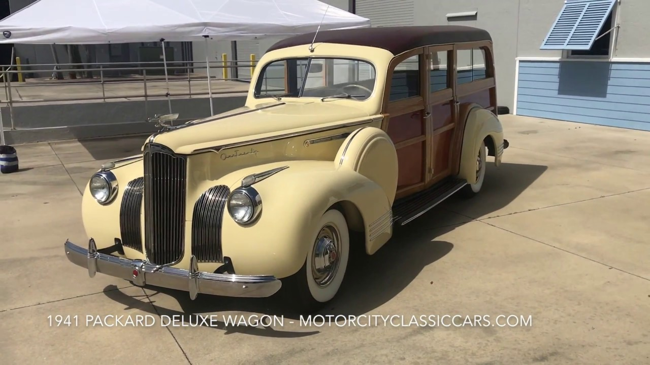 1941 Packard Deluxe Woody Wagon For Sale Motor City Classic Cars Lincoln Town Car