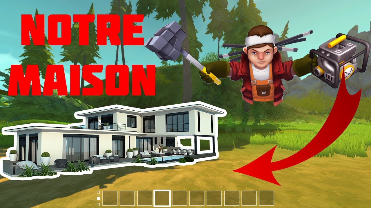 On cr e notre maison de luxe scrap mechanic 2 youtube for Cree des maison