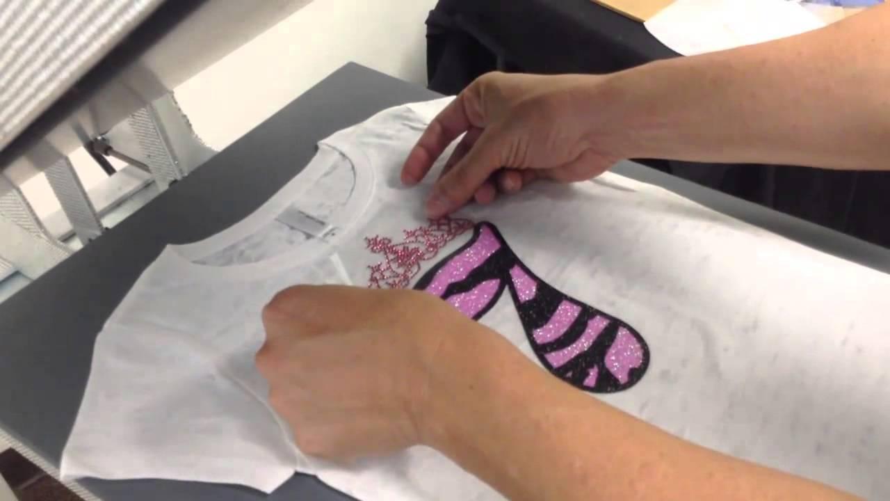 How To Make A Rhinestone Glitter HTV Birthday Shirt The World