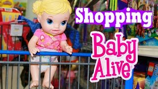 baby alive goes shopping baby alive doll buys diapers baby alive toys clothes for new baby