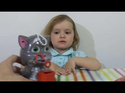 Мыльные пузыри Котик Том игрушка распаковка пускает пузыри Bubbles Tom Cat toy unpacking