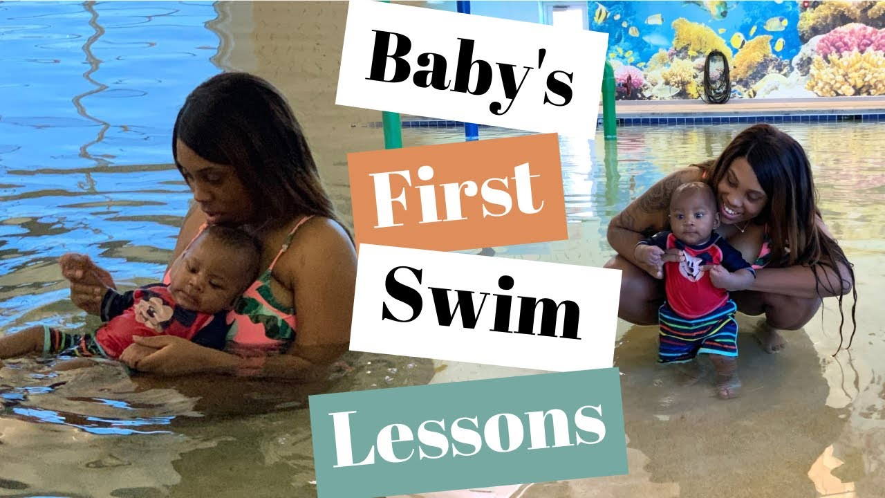 BABY'S FIRST SWIMMING LESSONS | 5 Months - YouTube