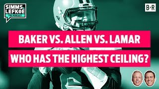 Baker vs. Allen vs. Lamar: Which Rookie QB Has Highest Ceiling? 🔥 | NFL Week 12 Film Notebook