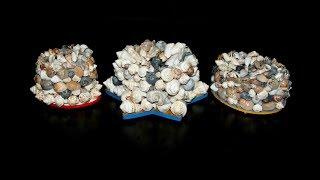 видео Поделки своими руками из ракушек, морских материалов ;) 3 идеи!