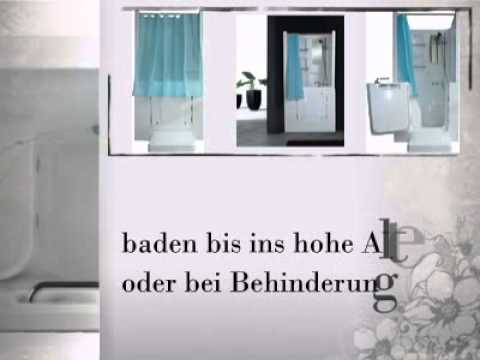 senioren dusche sitzbadewanne sitzwanne badewanne mit t r pool a102d youtube. Black Bedroom Furniture Sets. Home Design Ideas