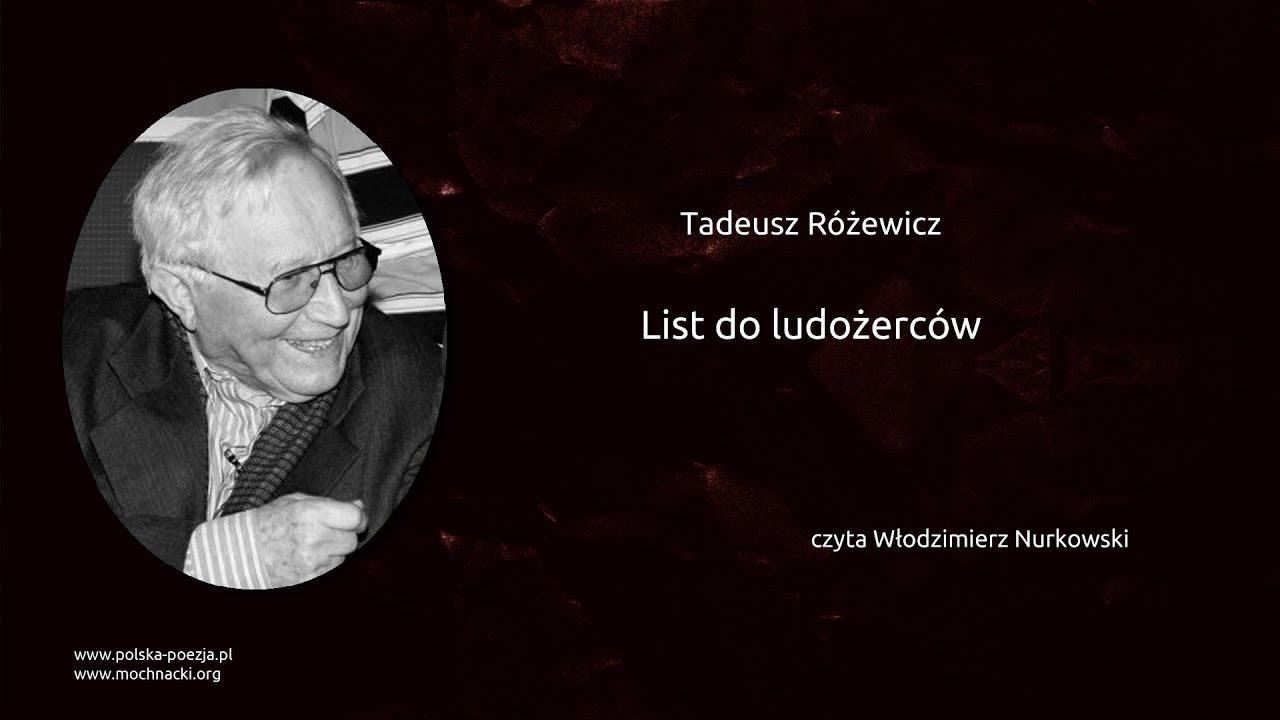 Tadeusz Różewicz List Do Ludożerców