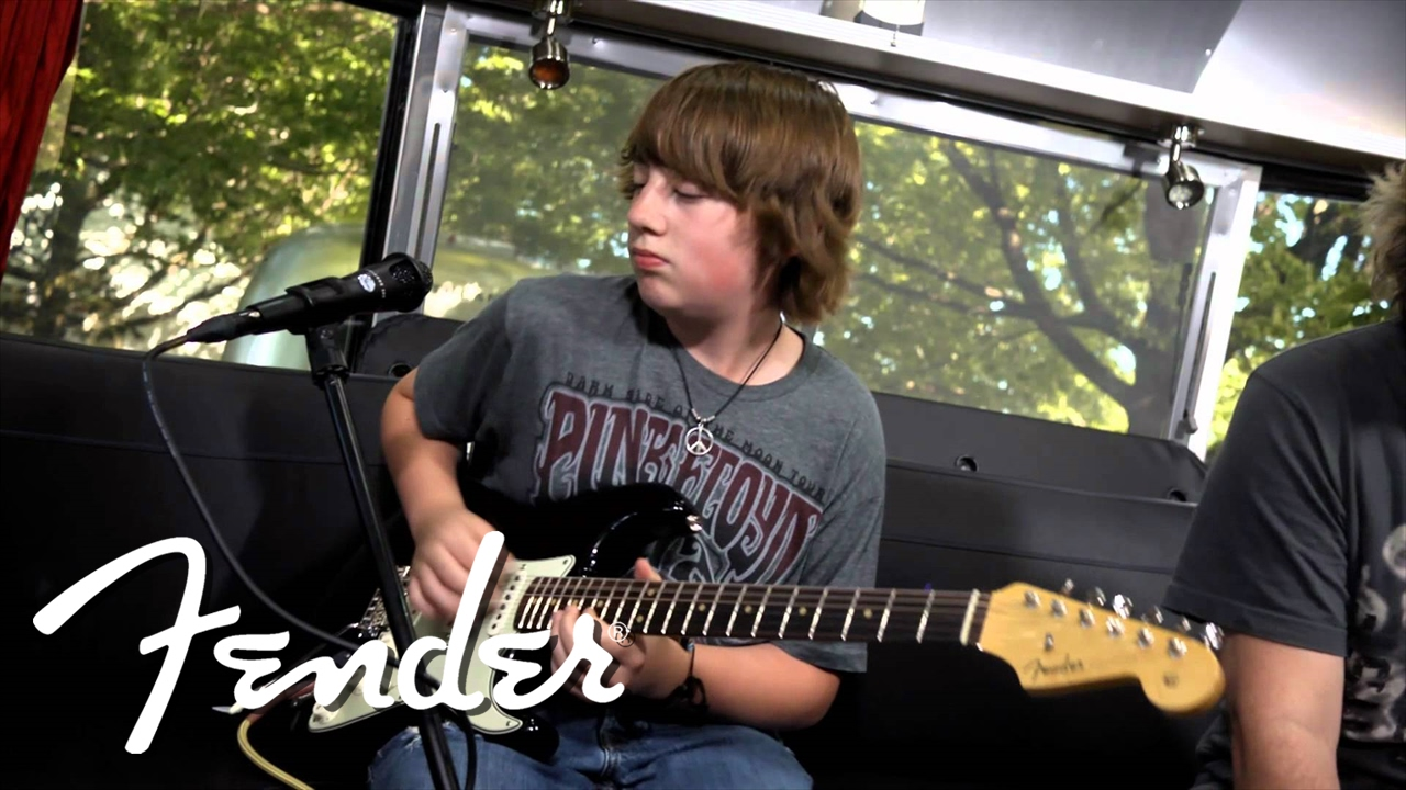 quinn sullivan performs my sweet guitar fender youtube. Black Bedroom Furniture Sets. Home Design Ideas