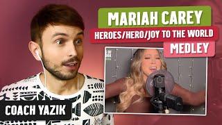 Download YAZIK reacts to Mariah Carey - Hero & Joy To The World Medley
