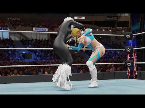 WWE 2K18 Black Cat vs. Rainbow Mika - Requested Match