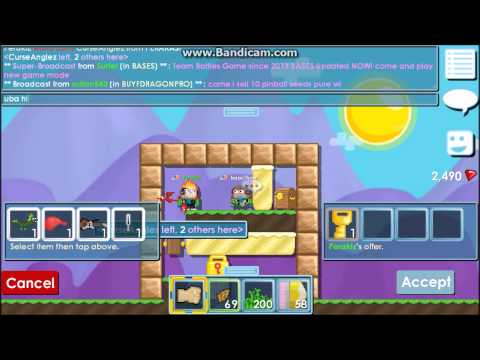 Growtopia:One World Lock and a Few Grass World Trade Scam