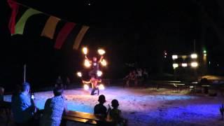 Огненное шоу. Пхукет, Таиланд. Пляж Бангтао(Развлечения для отдыхающих на пляже Бангтао., 2016-01-22T04:00:56.000Z)