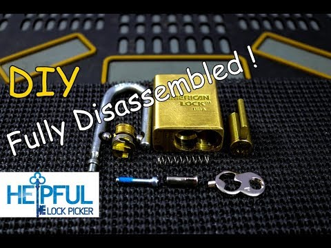 [153] DIY How To Fully Disassemble An American Lock