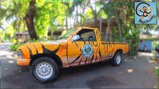 Про машины, животных  и лодки в зоопарке Бангкока. МанкиТайм в Таиланде.
