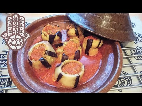 tajine-d'aubergines-farcies-à-la-viande-hachée