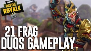 21 Frag Duos Gameplay! - Fortnite Battle Royale Gameplay - Ninja