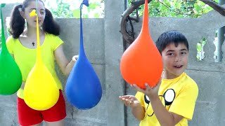 Learn Colors with Colorful Balloons Kids Nursery Rhymes Songs for Children By Guka Family Show