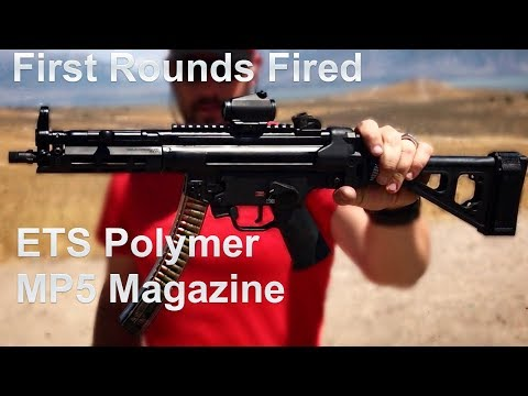 First Shots Through the ETS MP5 Polymer Magazine - YouTube