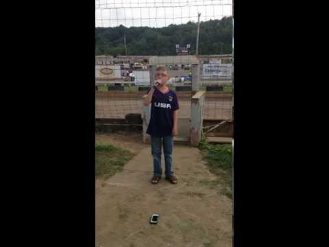 Pittsburgh Pennsylvania Motor Speedway National Anthem July 5, 2014