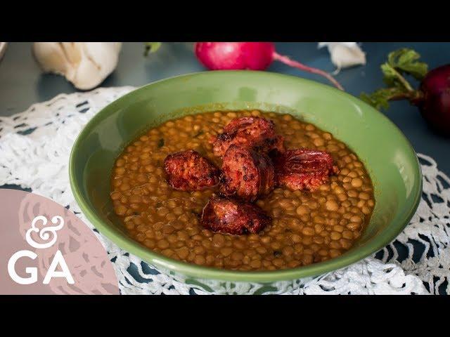 Lentejas caseras con chorizo rápidas, sin patatas   Receta de la abuela