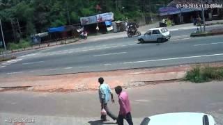 Bike accident captured in cc camera  tadambail surathkal