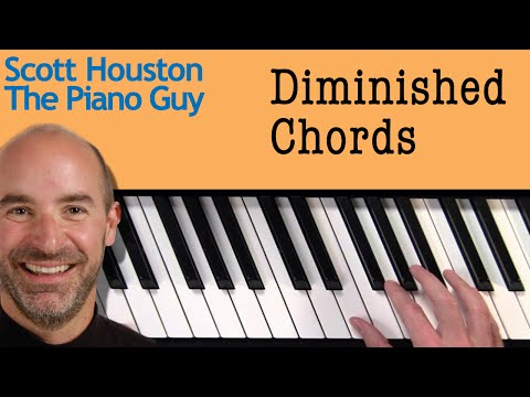 Piano Chords - Diminished Chords - How to Figure Them out on a Piano