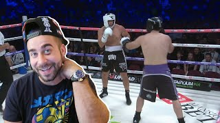 FAZE SENSEI KO'S ME! REACTING TO MY FULL FIGHT (LOGAN PAUL VS KSI BOXING)