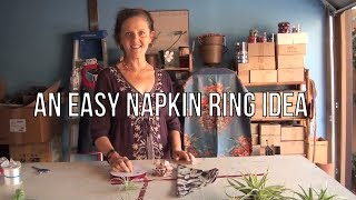 An Easy Napkin Ring Idea