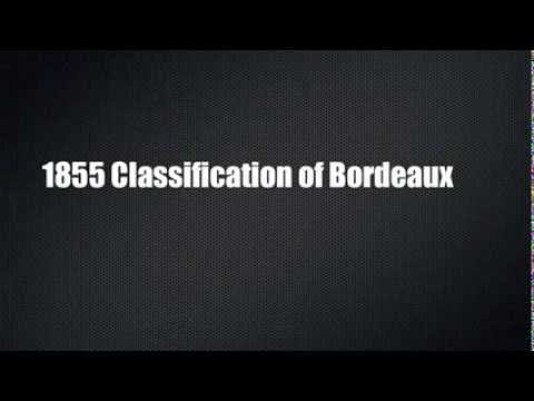 1855 Classification of Bordeaux - First Growths -  (learning aid)