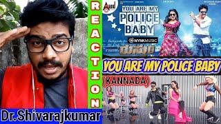 You Are My Police Baby Song REACTION Rustum Dr Shivarajkumar Sir J Anoop Seelin Oyepk