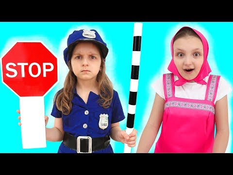Learning Signs with Police Baby for Children with Learn The Profession Educational Videos for Kids
