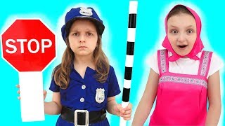 Learning Signs with Police Baby for Children with Learn The Profession Videos for Kids