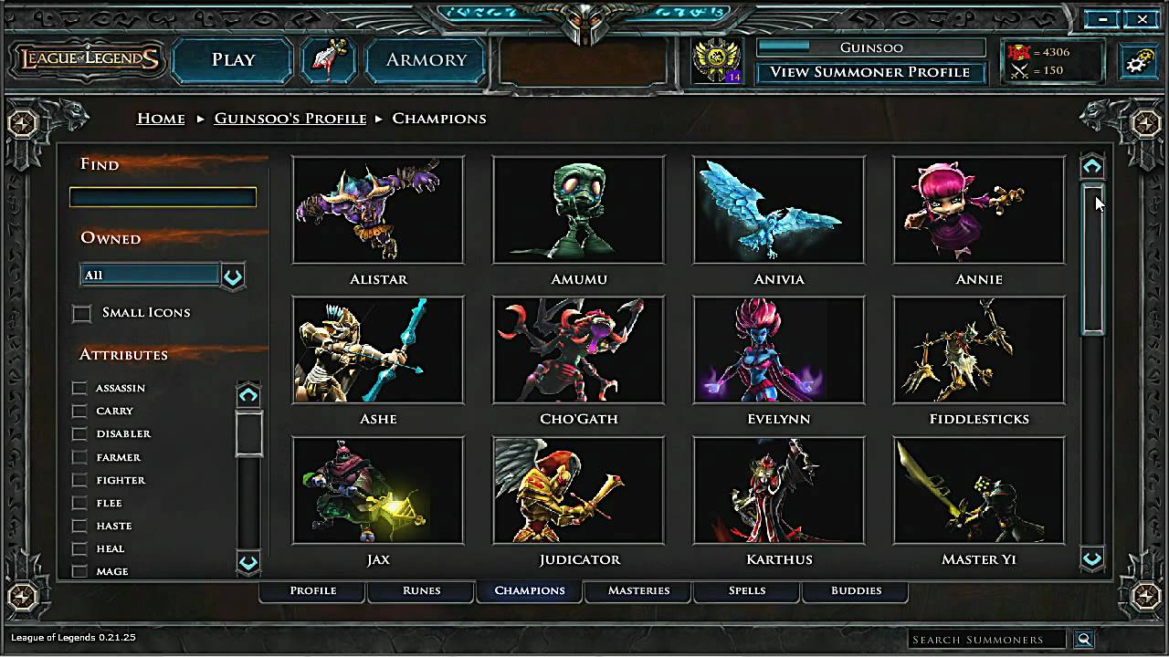 Summoner Profile - A brief overview of the Summoner profile from League of Legends.