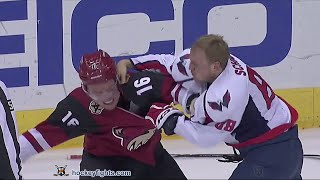 Nate Schmidt vs Max Domi Apr 2, 2016