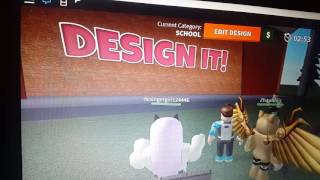Playing design it in roblox