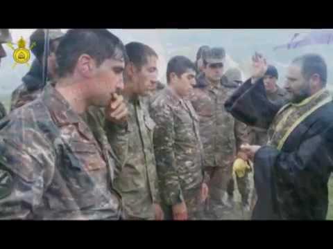 Крещение и Причащение армянских солдат перед битвой