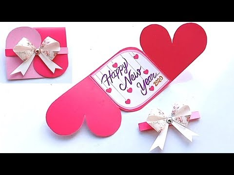 How to make New Year Love Card//Handmade easy card Tutorial
