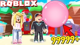 The LARGEST BALLOON with RUBBER in ROBLOX! (Bubble Gum Simulator) Vito and Bella