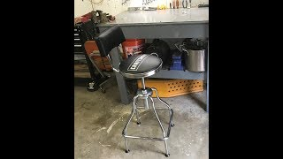 Craftsman  adjustable hydraulic  stool, assembly and review