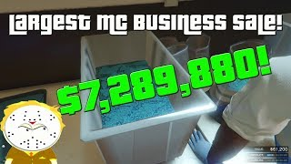 GTA $7,289,880 Largest MC Business Sale 1 Day!